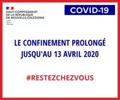 Prolongation du confinement jusqu'au 13 avril 2020